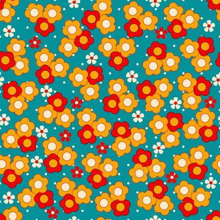 fabric patterns: Seamless ornamental floral pattern Illustration