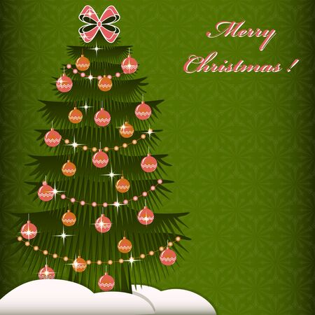 christmas tree illustration: Christmas tree. Abstract Christmas vector illustration Illustration