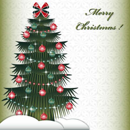 Christmas tree. Abstract Christmas vector illustration Illustration