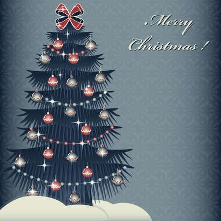 snowbanks: Christmas tree. Abstract Christmas vector illustration Illustration