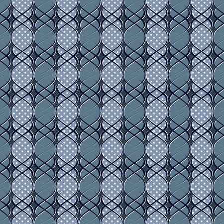 curved lines: Abstract vector illustration. Pattern of curved lines, polka dot Illustration