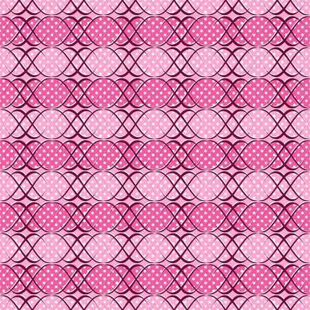 Abstract illustration. Pattern of curved lines, polka dot