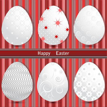 paschal: vector set of Easter eggs Illustration