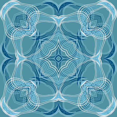 in curved: Abstract vector pattern of curved lines Illustration