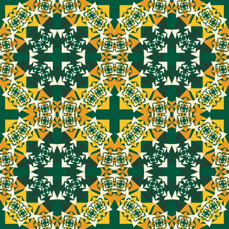 Seamless vector background geometric  shapes. Abstract pattern, mandala motif Illustration