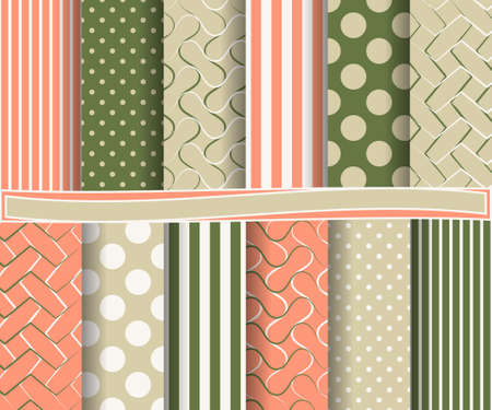 image size: set of abstract vector paper with decorative shapes and design elements for scrapbook