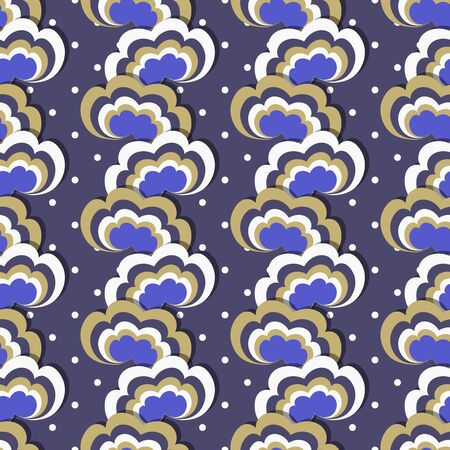 natural phenomenon: seamless vector illustration background. striped cartoon clouds