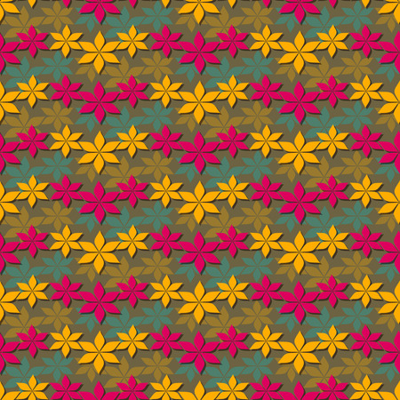 autumn motif: Seamless abstract floral vector illustration