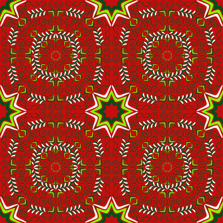 Seamless abstract vector Christmas pattern