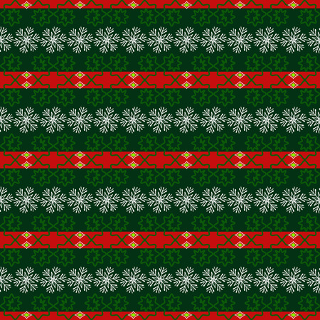 Seamless vector Christmas background illustration. Christmas patterns, snowflakes Illustration