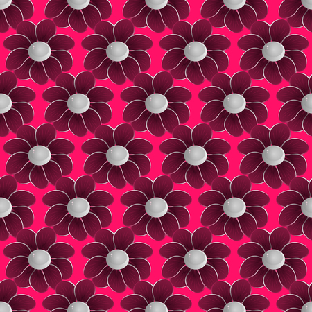 tissue paper art: abstract vector floral background illustration