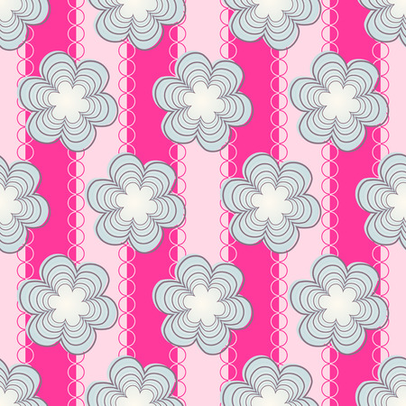 Abstract vector illustration of decorative floral background