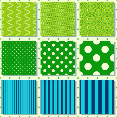 set of abstract vector paper with design elements for scrapbook