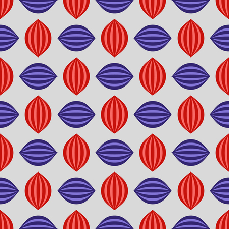 Seamless vector illustration background of abstract striped shapes Illustration