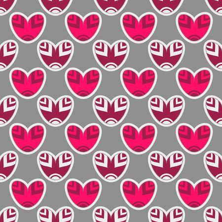 seamless vector illustration of Valentines Day with abstract multicolor hearts Illustration