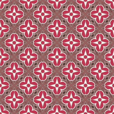 Abstract decorative flowers from hearts seamless pattern background.