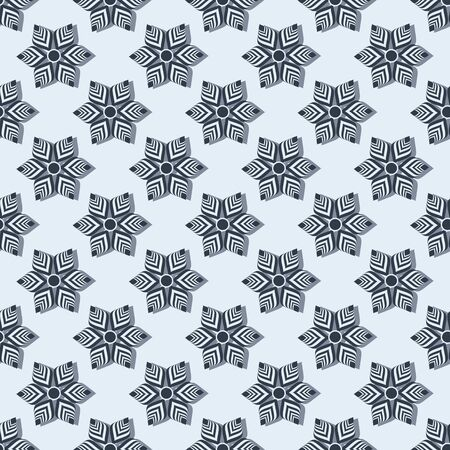 Abstract striped flowers pattern.
