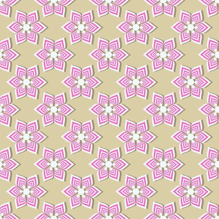 seamless vector background illustration of abstract striped flowers