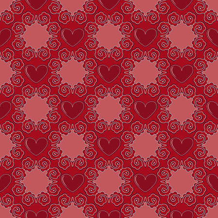 Illustration of Valentines Day pattern. Illustration