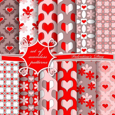 Valentines Day theme cover pattern design.