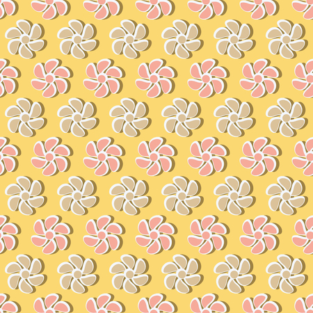 Seamless vector illustration of decorative flowers. Design elements for Scrapbook. Can be used for wallpapers, fills images, background, surface