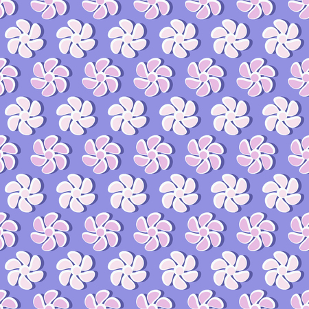 Seamless vector illustration of decorative flowers. Design elements for Scrapbook. Can be used for wallpapers, fills images, background, surface. Illustration