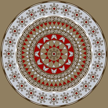 vector circular pattern mandala of abstract geometric shapes decorative flowers Foto de archivo - 98832271