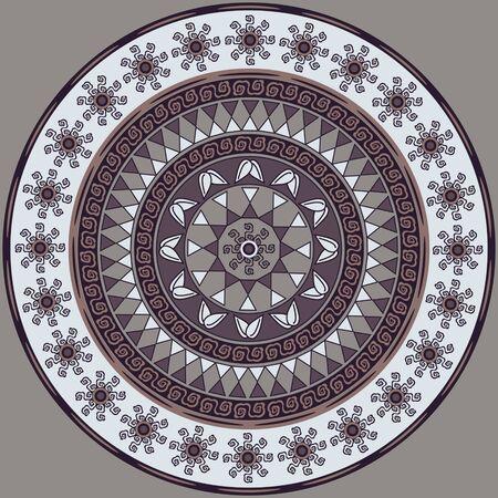 Vector circular mandala patrón de flores decorativas formas geométricas abstractas Foto de archivo - 99019708