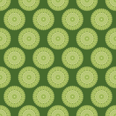 seamless vector illustration background with circular patterns Illustration
