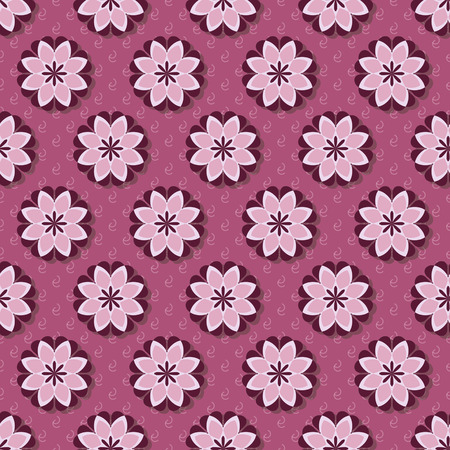 seamless abstract vector illustration of decorative flowers