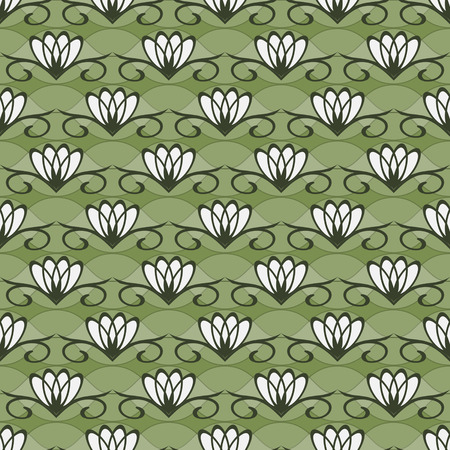 seamless vector illustration background of abstract  decorative flowers