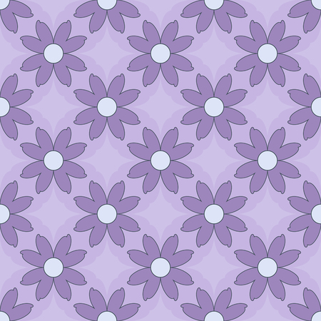 seamless vector illustration background of abstract shapes, decorative flowers