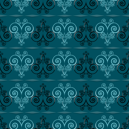 Pattern of curls. Seamless vector illustration background Ilustracja