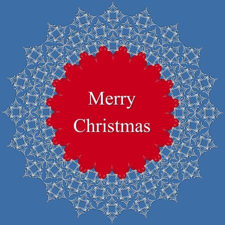 Christmas abstract circular lace pattern. Vector illustration Ilustracja
