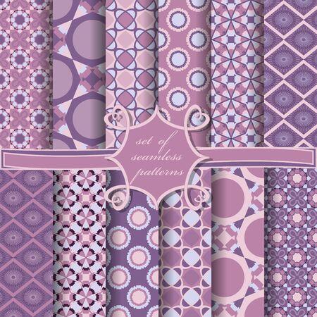 set di carta vettoriale senza soluzione di continuità con forme geometriche astratte ed elementi di design per la decorazione