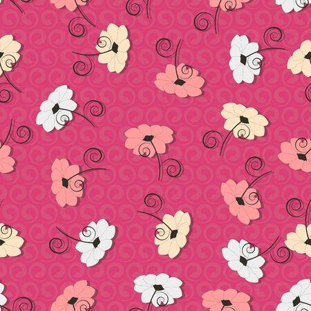 Decorative floral background. Seamless vector illustration Иллюстрация