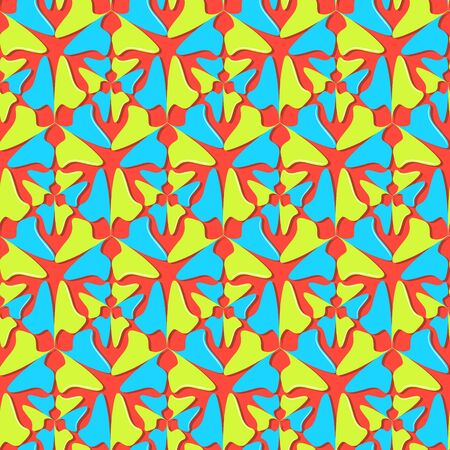 Seamless vector abstract background. Decorative geometric shapes. Can be used for wallpaper, image fill, web page, background, surface.