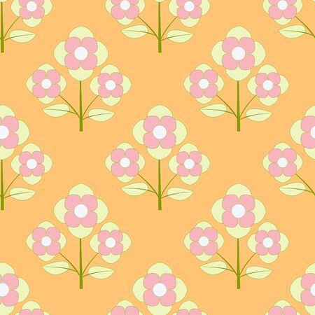 Decorative floral background. Seamless vector illustration 向量圖像