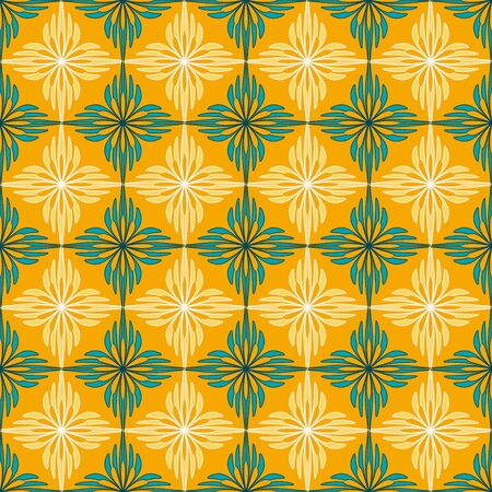 Seamless vector abstract background. Decorative flowers, geometric shapes. Can be used for wallpaper, image fill, web page, background, surface