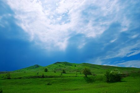 Hill under the beautiful sky Stock Photo - 3420966