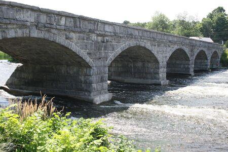 Concrete Bridge With Five Arches