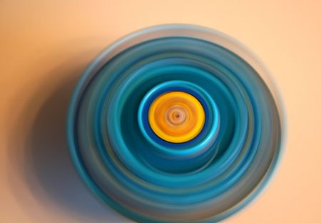 Blue Spinning Top