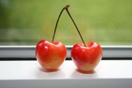 Twin rainier cherries