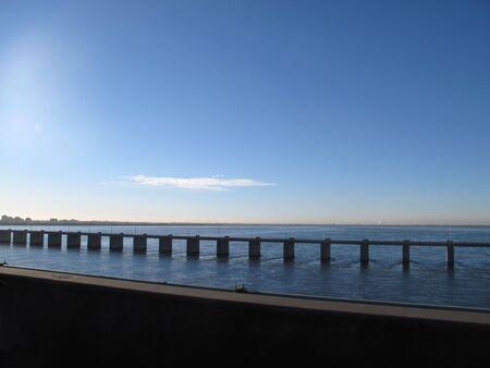 Bridge between Montreal and the south shore                                    Фото со стока