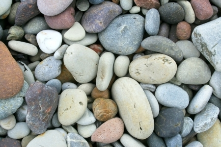 Closeup of Pebbles on the beach