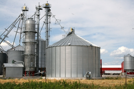 Metal grain silos for agriculture photo