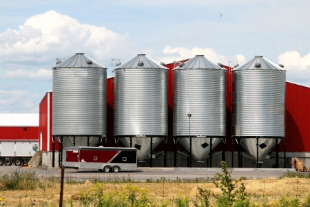 steel mill: Metal grain silos for agriculture