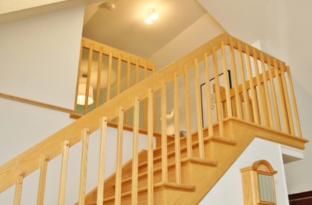 Open staircase and  stairs made in oak