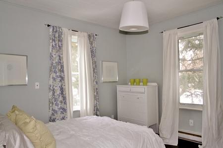 Vintage decorator bedroom interior