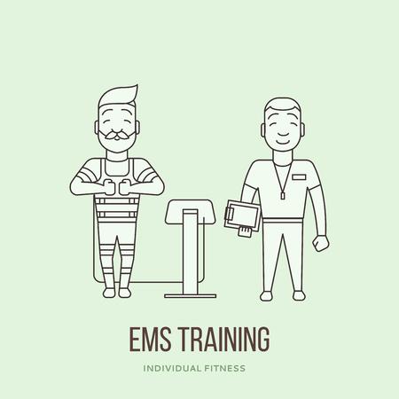 EMS logo color Stock Illustratie